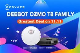 ECOVACS ROBOTICS dành ưu đãi, giảm giá các mặt hàng trên cửa hàng Lazada, Shopee trong ngày 11/11