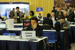 Không khí Trung tâm Báo chí quốc tế ngày đầu tiên làm việc