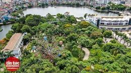 Hàng trăm tấn sắt gỉ chờ sập trong công viên Tuổi trẻ Thủ đô