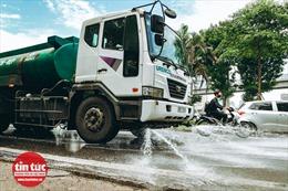 Hà Nội chi 114 tỷ đồng để phun nước rửa đường trở lại