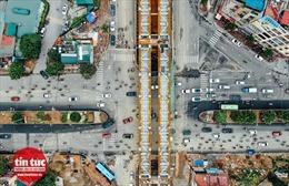 Cận cảnh cầu vượt 560 tỷ đồng trên con đường qua 3 quận nội thành Hà Nội