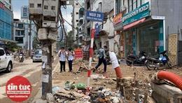 Hà Nội: Thi công ẩu tại đường Vũ Trọng Phụng gây ô nhiễm, nguy cơ tai nạn