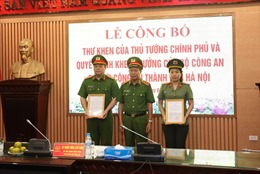 Khen thưởng thành tích triệt phá tội phạm công nghệ cao của Công an Hà Nội