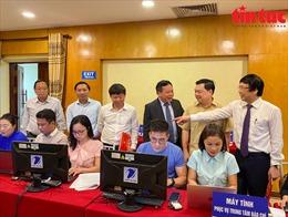 Khai trương Trung tâm Báo chí phục vụ Đại hội Đại biểu Đảng bộ thành phố Hà Nội lần thứ XVII