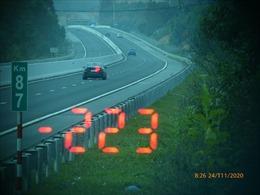 Xử phạt nặng lái xe chạy tốc độ 'kinh hoàng' 223 km/giờ