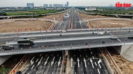 Nút giao Vành đai 3 với cao tốc Hà Nội - Hải Phòng trong ngày khánh thành