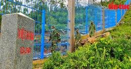 Chiến sĩ biên phòng bám chốt xuyên Tết làm nhiệm vụ chống COVID-19
