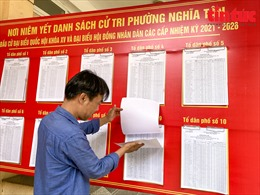 Hà Nội: Niêm yết công khai danh sách cử tri kịp thời, chính xác, đúng quy định