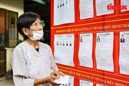 Hình ảnh ấn tượng về cụ bà 101 tuổi tự mình đi bỏ phiếu bầu cử