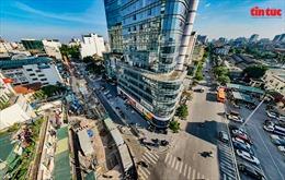 Phân luồng giao thông tuyến Trần Hưng Đạo-Lê Duẩn-Trần Bình Trọng để thi công dự án Metro số 3