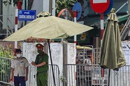 Cận cảnh các chốt phong toả quy mô cấp phường đầu tiên ở Hà Nội