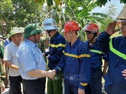 Kiểm tra, động viên lực lượng tham gia chữa cháy rừng ở Hà Tĩnh