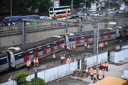 Trật bánh tàu điện ngầm tại Hong Kong