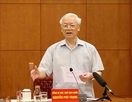 Tổng Bí thư, Chủ tịch nước Nguyễn Phú Trọng: Báo cáo không chỉ đánh giá 5 năm mà phải nhìn lại hơn 30 năm đổi mới