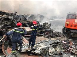 Cháy chợ Còng ở Thanh Hoá, 400 gian hàng bị thiêu rụi