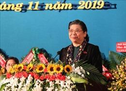 Phó Chủ tịch Thường trực Quốc hội Tòng Thị Phóng dự đại hội các dân tộc thiểu số tỉnh Đắk Lắk 