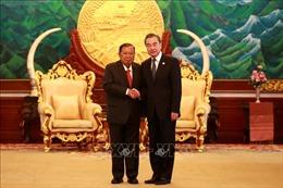Tổng Bí thư, Chủ tịch Lào tiếp Ủy viên Quốc vụ viện, Bộ trưởng Ngoại giao Trung Quốc Vương Nghị