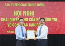 Trao quyết định của Bộ Chính trị cho đồng chí Nguyễn Hồng Diên