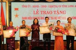 Long An trao tặng, truy tặng danh hiệu 'Bà mẹ Việt Nam Anh hùng'