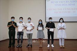 Bốn trường hợp điều trịtại BV Đa khoa tỉnh Hòa Bình được công bố khỏi bệnh