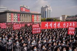 Triều Tiên tổ chức mít tinh tại quảng trường Kim Nhật Thành