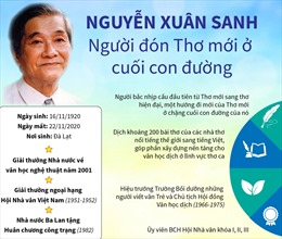 Nhà thơ Nguyễn Xuân Sanh - Người tạo cho thơ sức lôi cuốn kỳ ảo