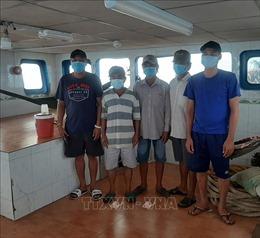 Phát hiện 5 thuyền viên nhập cảnh trái phép trên vùng biển Kiên Giang