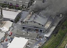 Nổ tại nhà máy hóa chất ở Nhật Bản, 4 người bị thương