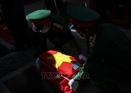 Quảng Trị tổ chức truy điệu, an táng 24 hài cốt liệt sĩ Việt Nam hy sinh tại Lào