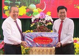 Phó Thủ tướng Trương Hòa Bình thăm, chúc Tết ở Long An