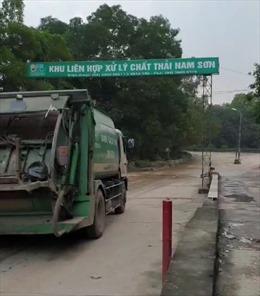 Người dân không còn chặn xe vào bãi rác Nam Sơn