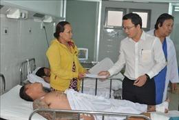Vụ tai nạn nghiêm trọng ở Long An: Hỗ trợ 5 triệu đồng cho gia đình có người tử vong