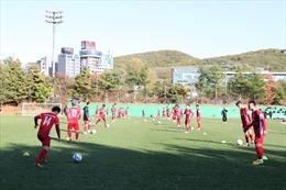 'Phép thử' đầu tiên của đội tuyển bóng đá Việt Nam tại Hàn Quốc