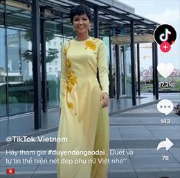 TikTok tôn vinh tà áo dài Việt Nam