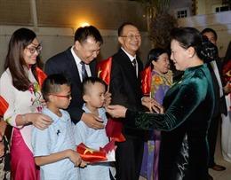 Chủ tịch Quốc hội Nguyễn Thị Kim Ngân thăm Đại sứ quán và gặp gỡ cộng đồng người Việt Nam tại Qatar
