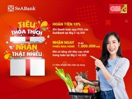 Săn thẻ quốc tế SeABank trong tay, hoàn ngay 10% khi mua sắm tại Big C và Go!