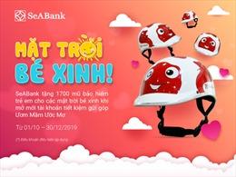 SeABank tặng 1.700 mũ bảo hiểm mũ bảo hiểm xinh xắn cho Mặt trời bé xinh