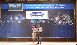 Vinamilk là thương hiệu nhà tuyển dụng hấp dẫn nhất Việt Nam