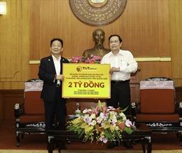 Các doanh nghiệp đầu tiên ủng hộ cho cuộc chiến chống COVID-19 tại miền Trung
