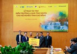 'Bầu Hiển' ủng hộ 5 tỷ đồng xây điểm trường và nhà tình nghĩa cho người nghèo tỉnh Cao Bằng