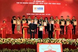 SHB được vinh danh Top 50 DN xuất sắc nhất Việt Nam
