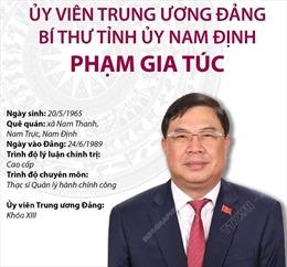 Bí thư Tỉnh ủy Nam Định Phạm Gia Túc