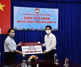 Agribank Sóc Trăng ủng hộ Quỹ phòng, chống dịch COVID-19 tỉnh Sóc Trăng 1,5 tỷ đồng