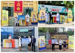 Vinamilk ủng hộ thêm 110.000 sản phẩm dinh dưỡng và nhiều trang thiết bị y tế cho công tác chống dịch