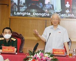 Tổng Bí thư Nguyễn Phú Trọng tiếp xúc cử tri trước Kỳ họp thứ hai, Quốc hội khoá XV