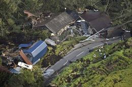 Vừa hứng siêu bão, Nhật Bản lại bị động đất 'nuốt chửng' nhà cửa, xới tung đường sá