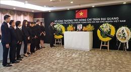 Lễ viếng, truy điệu Chủ tịch nước Trần Đại Quang tại Thượng Hải và Ba Lan