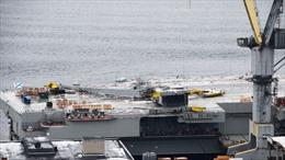 Cận cảnh tàu sân bay duy nhất của Nga gặp nạn, thiệt hại nặng