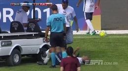 Cầu thủ đen đủi nhất Brazil: Bị xe cứu thương cán qua khi đang nằm trên sân
