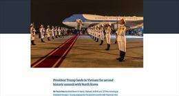 Nhà Trắng đăng ảnh lễ đón Tổng thống Trump tại sân bay Nội Bài